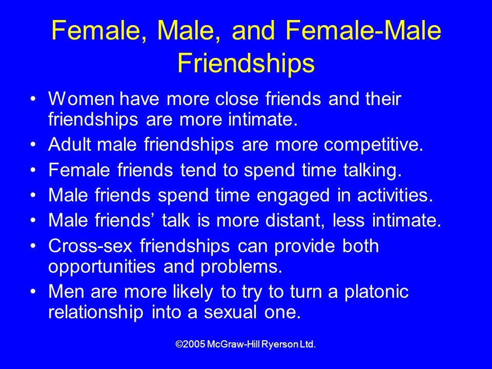 Female, Male, and Female-Male Friendships