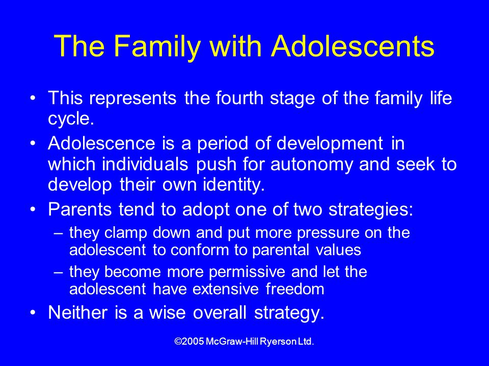The Family with Adolescents