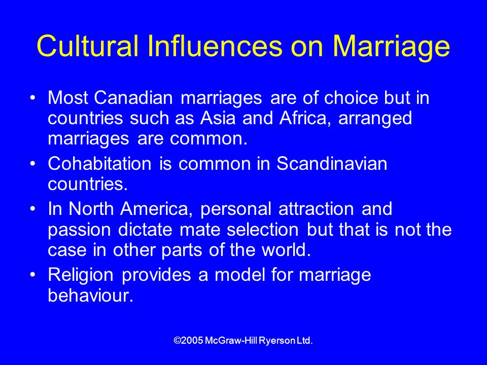 Cultural Influences on Marriage