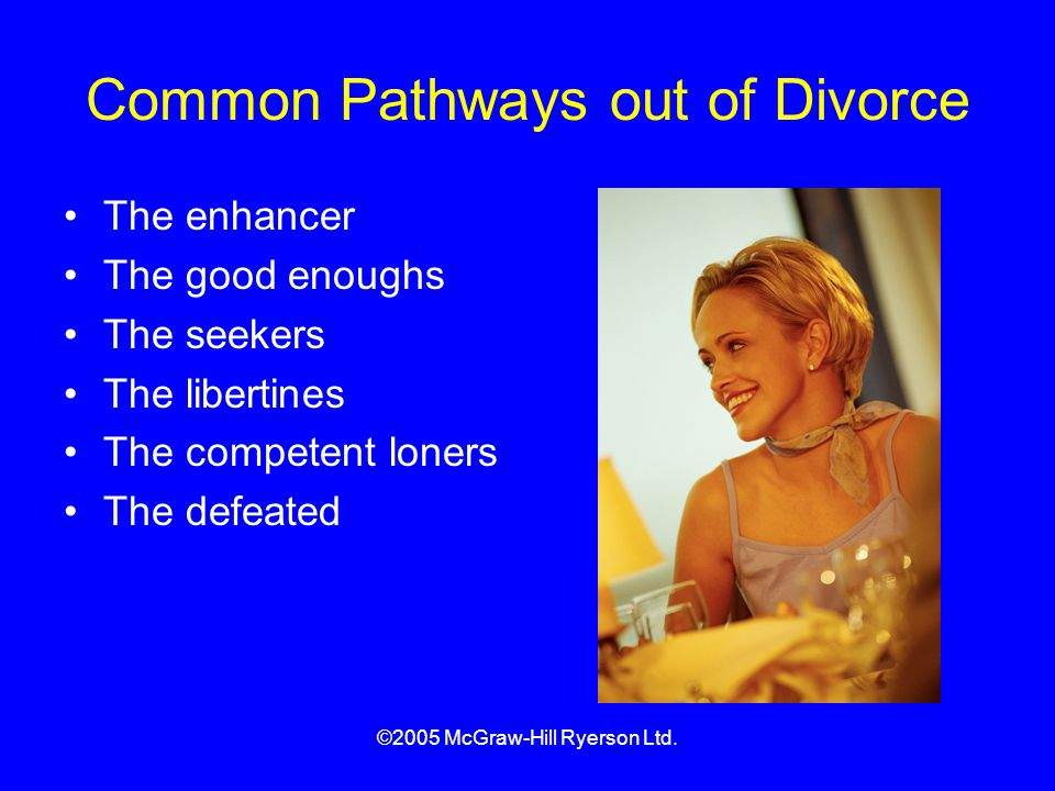 Common Pathways out of Divorce