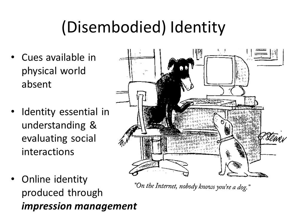 (Disembodied) Identity