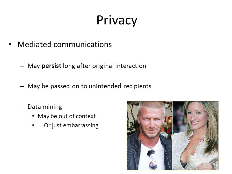 Privacy Mediated communications