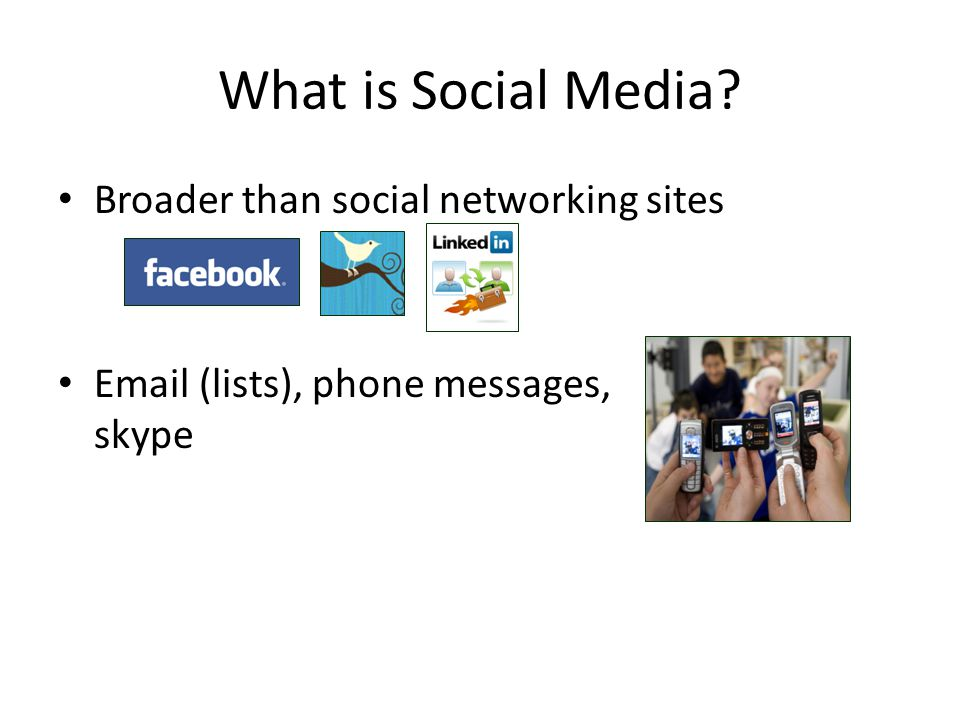 What is Social Media Broader than social networking sites