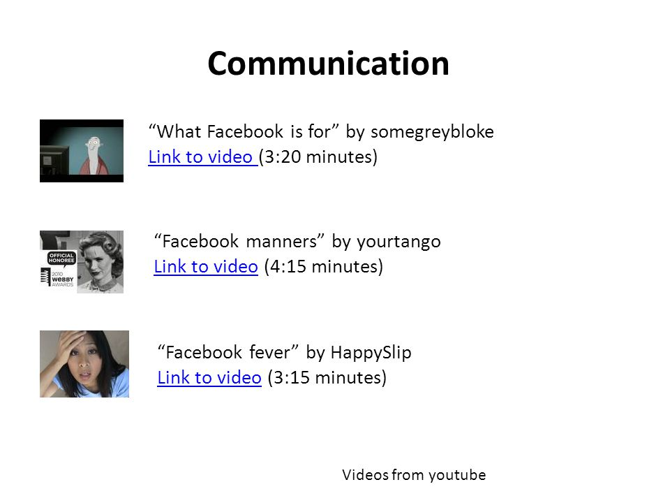Communication What Facebook is for by somegreybloke