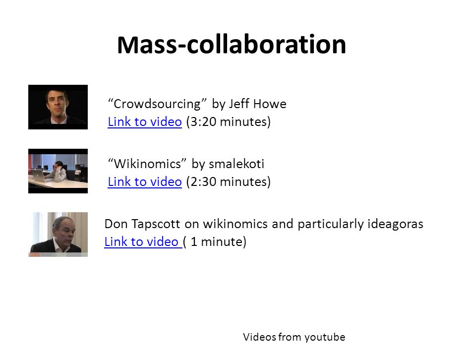 Mass-collaboration Crowdsourcing by Jeff Howe