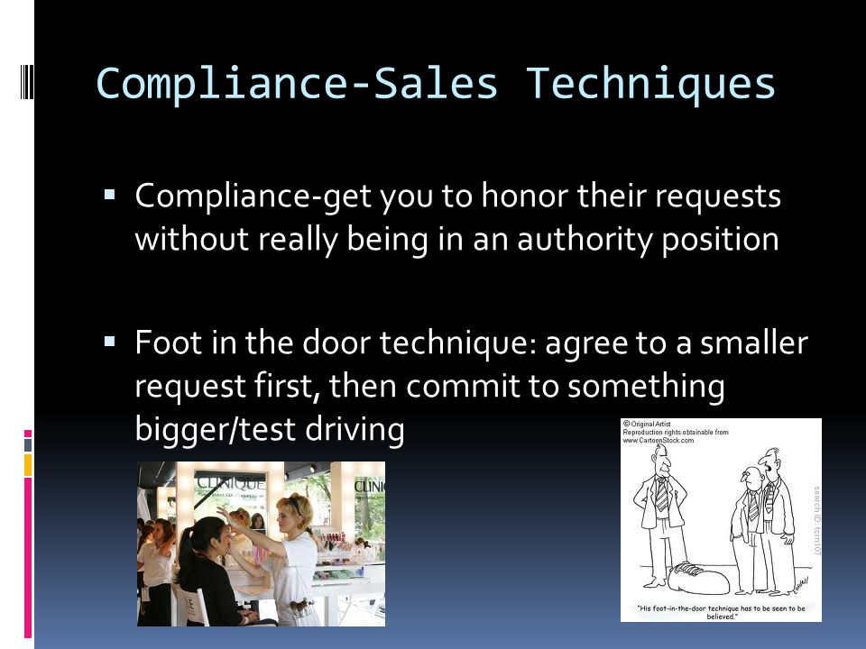 Compliance-Sales Techniques