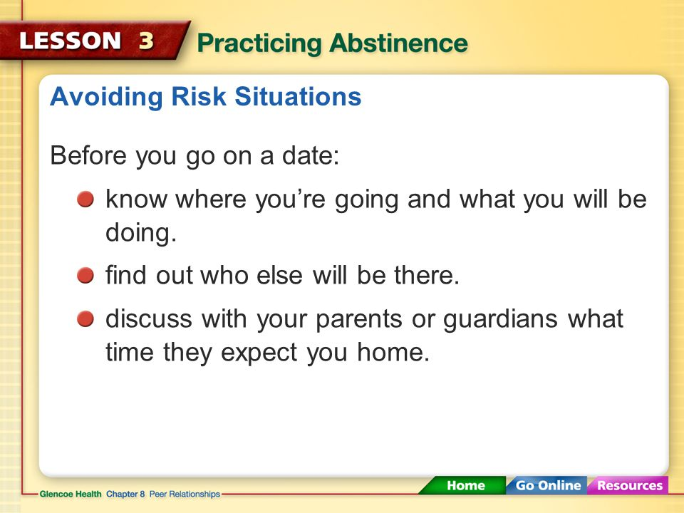 Avoiding Risk Situations