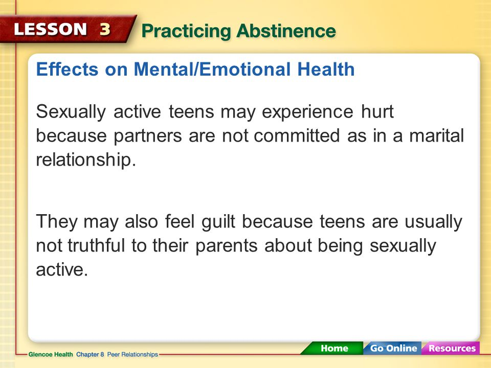 Effects on Mental/Emotional Health