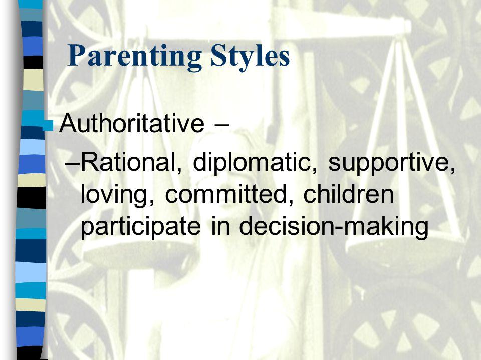 Parenting Styles Authoritative –