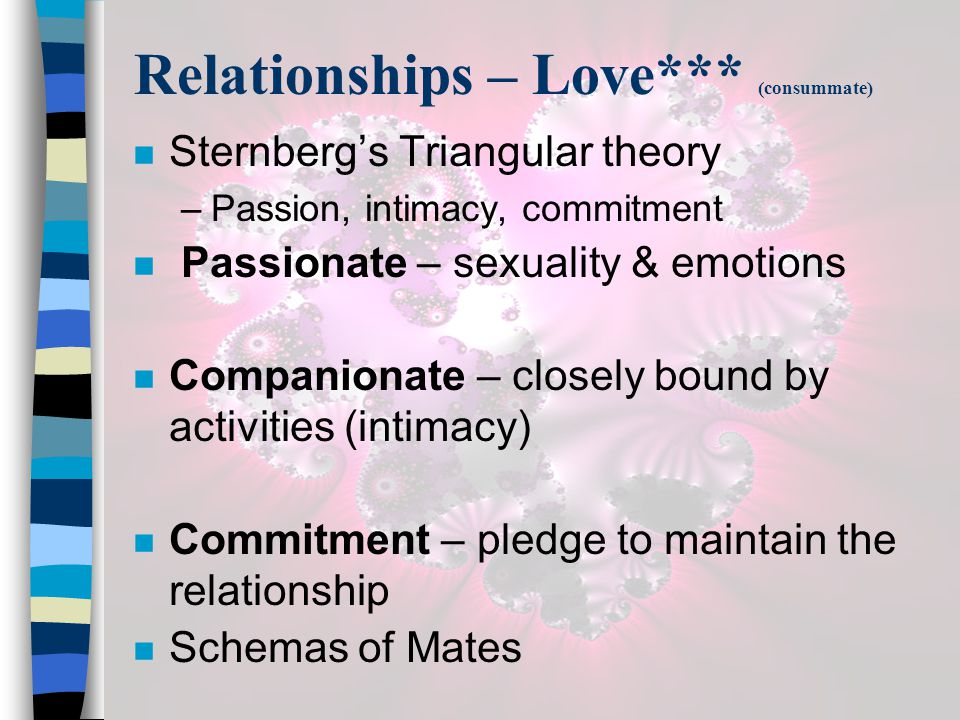 Relationships – Love*** (consummate)