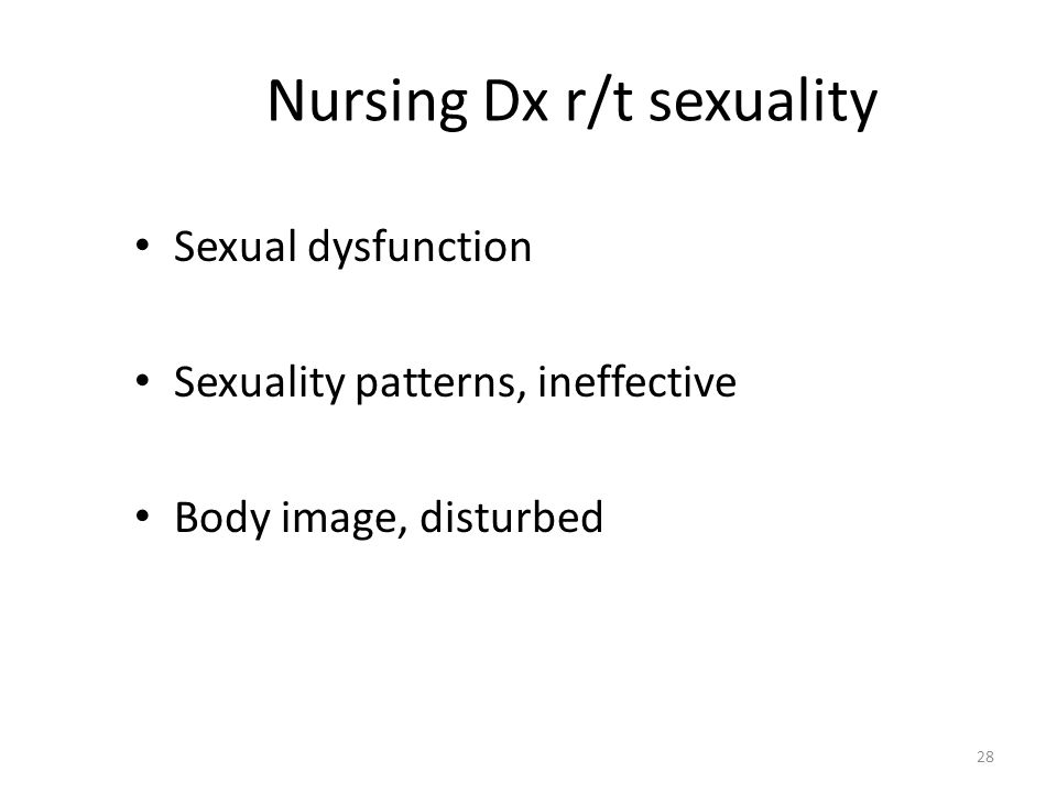Nursing Dx r/t sexuality