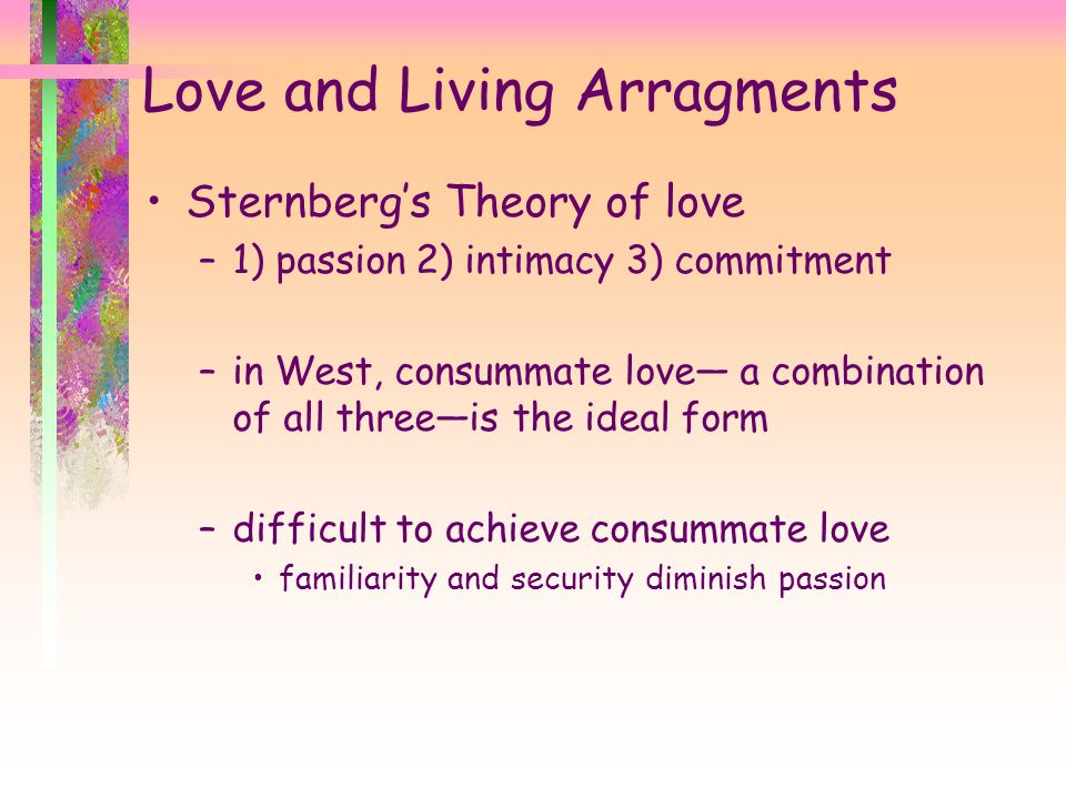 Love and Living Arragments