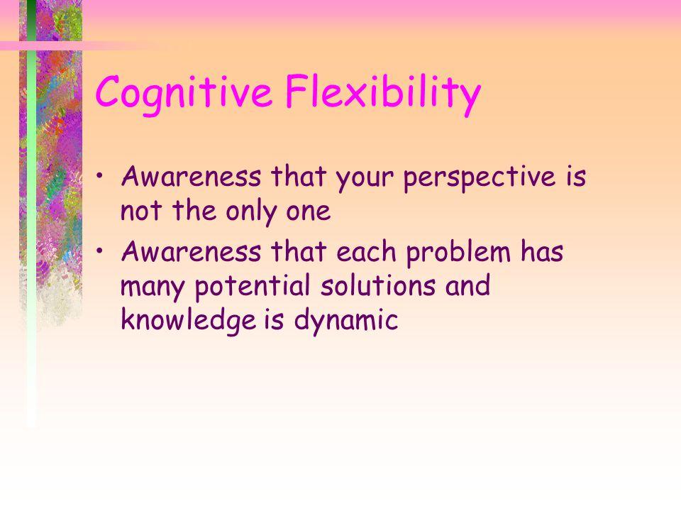 Cognitive Flexibility