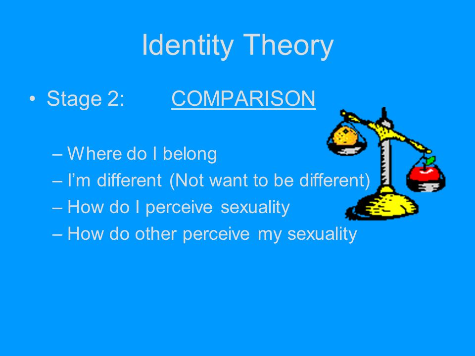 Identity Theory Stage 2: COMPARISON Where do I belong