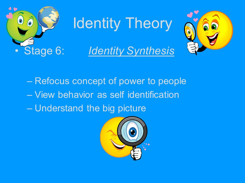 Identity Theory Stage 6: Identity Synthesis