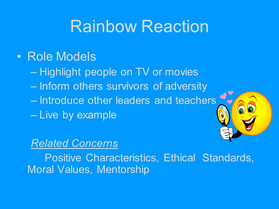 Rainbow Reaction Role Models Highlight people on TV or movies