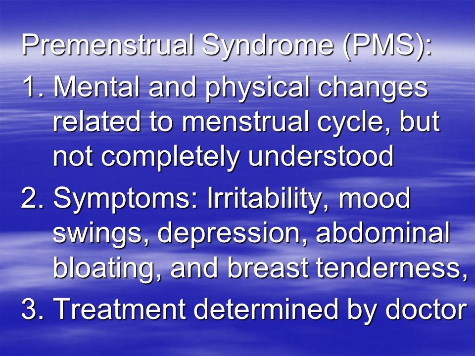 Premenstrual Syndrome (PMS):