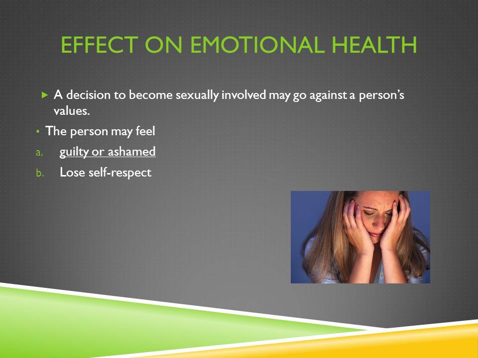 Effect on Emotional Health