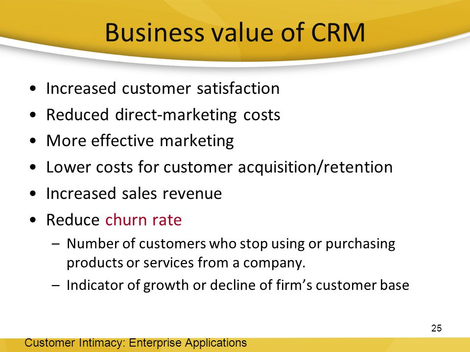 crm customer retention The basic objective of all crm activities is to enhance customer satisfaction so as to secure customer loyalty and improve customer retention role of crm in driving customer satisfaction crm plays an important role in driving customer satisfaction.