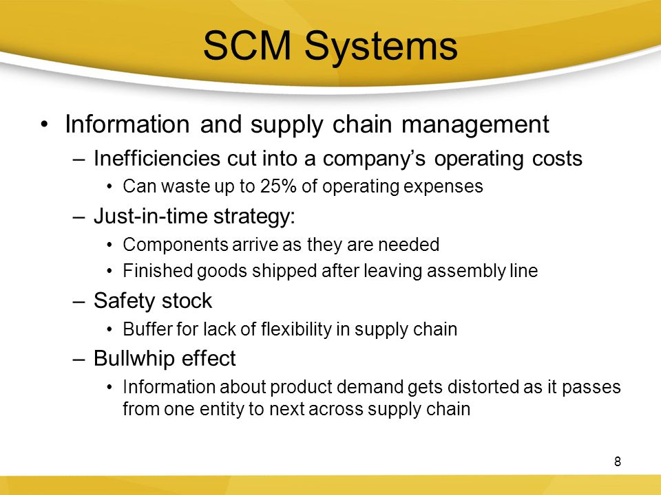 SCM Systems Information and supply chain management
