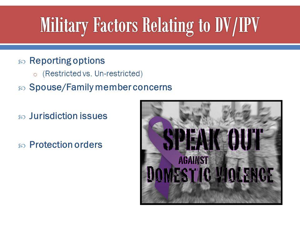Military Factors Relating to DV/IPV