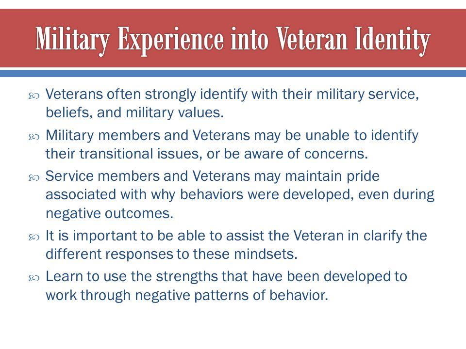 Military Experience into Veteran Identity