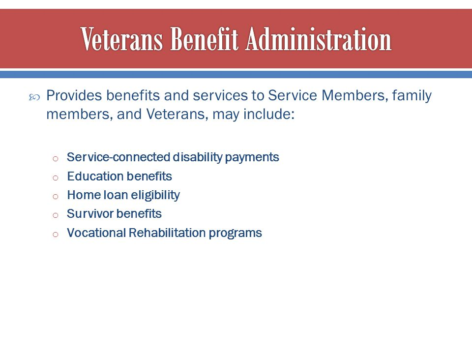 Veterans Benefit Administration