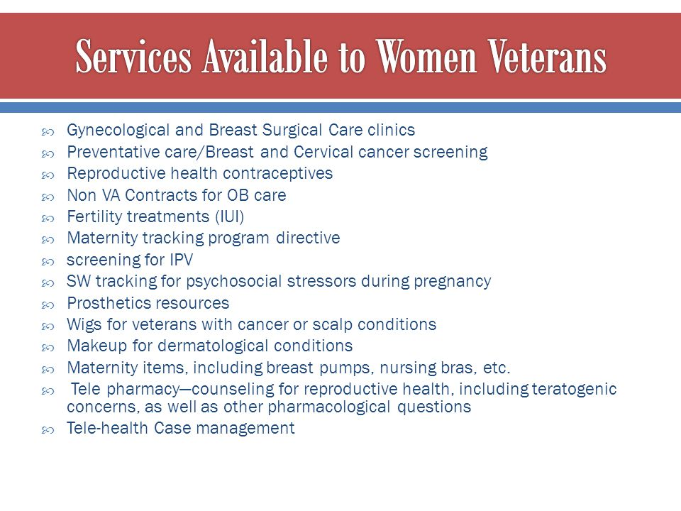 Services Available to Women Veterans
