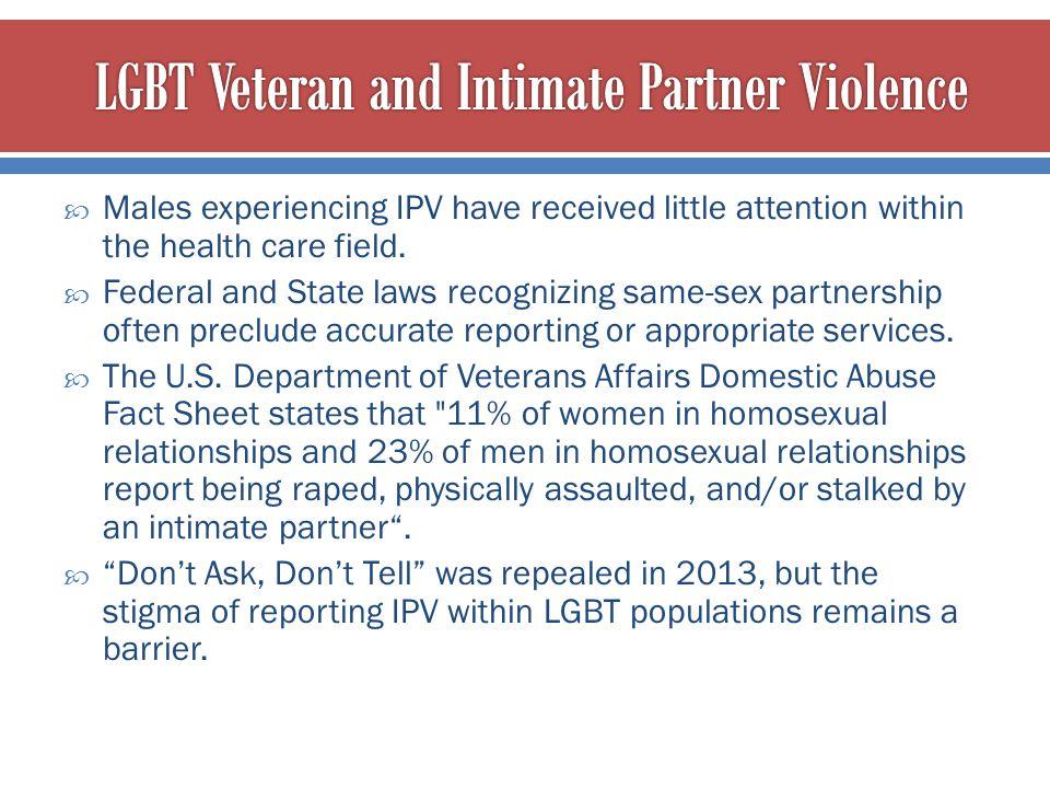 LGBT Veteran and Intimate Partner Violence