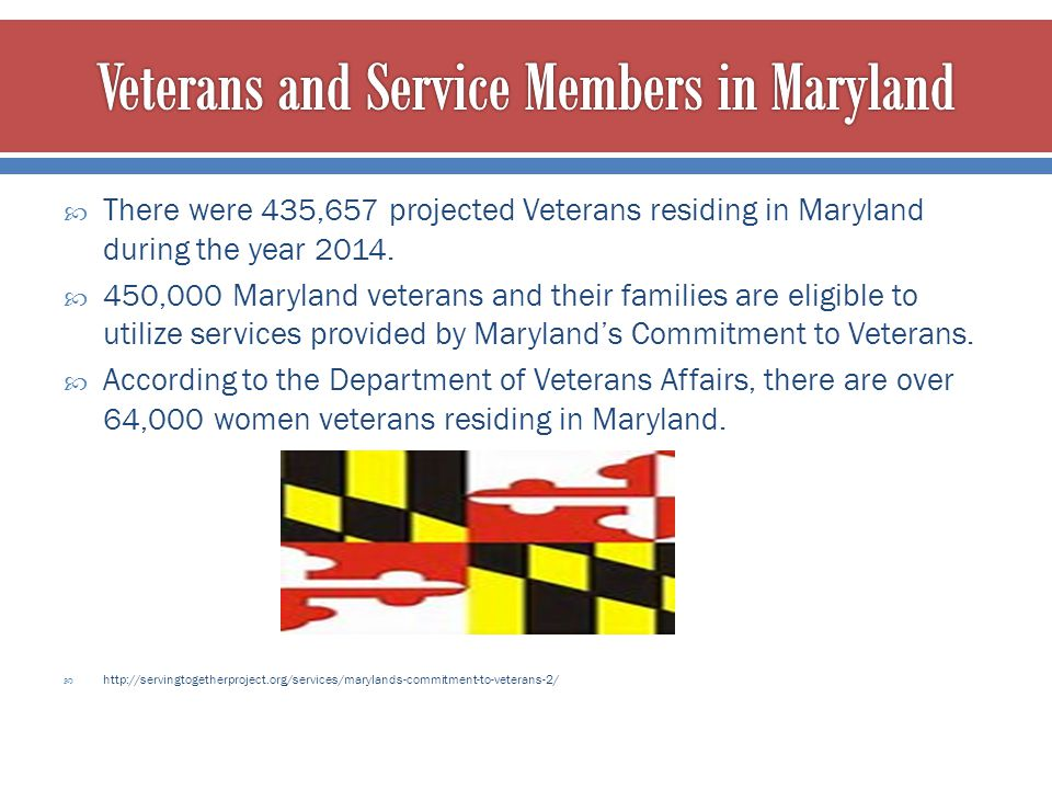 Veterans and Service Members in Maryland