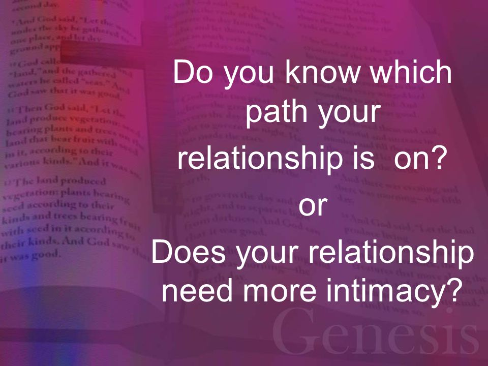 Do you know which path your relationship is on
