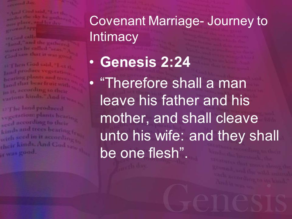 Covenant Marriage- Journey to Intimacy