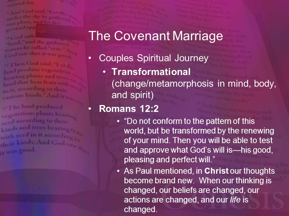 The Covenant Marriage Couples Spiritual Journey