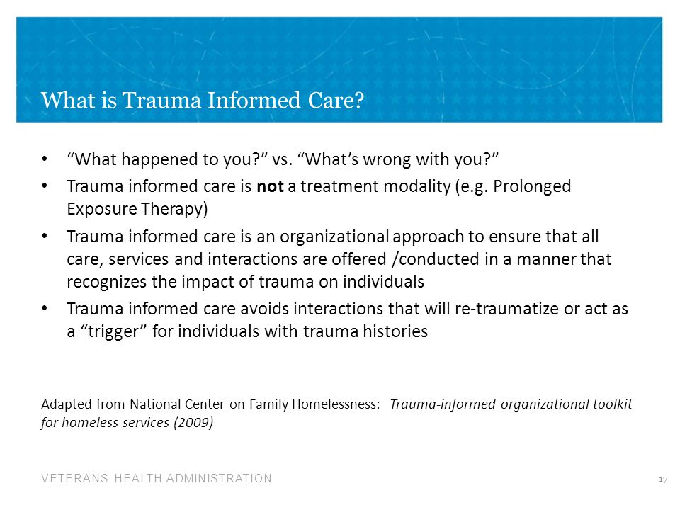 What is Trauma Informed Care
