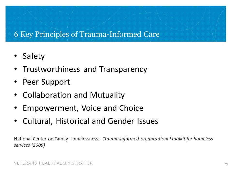 6 Key Principles of Trauma-Informed Care