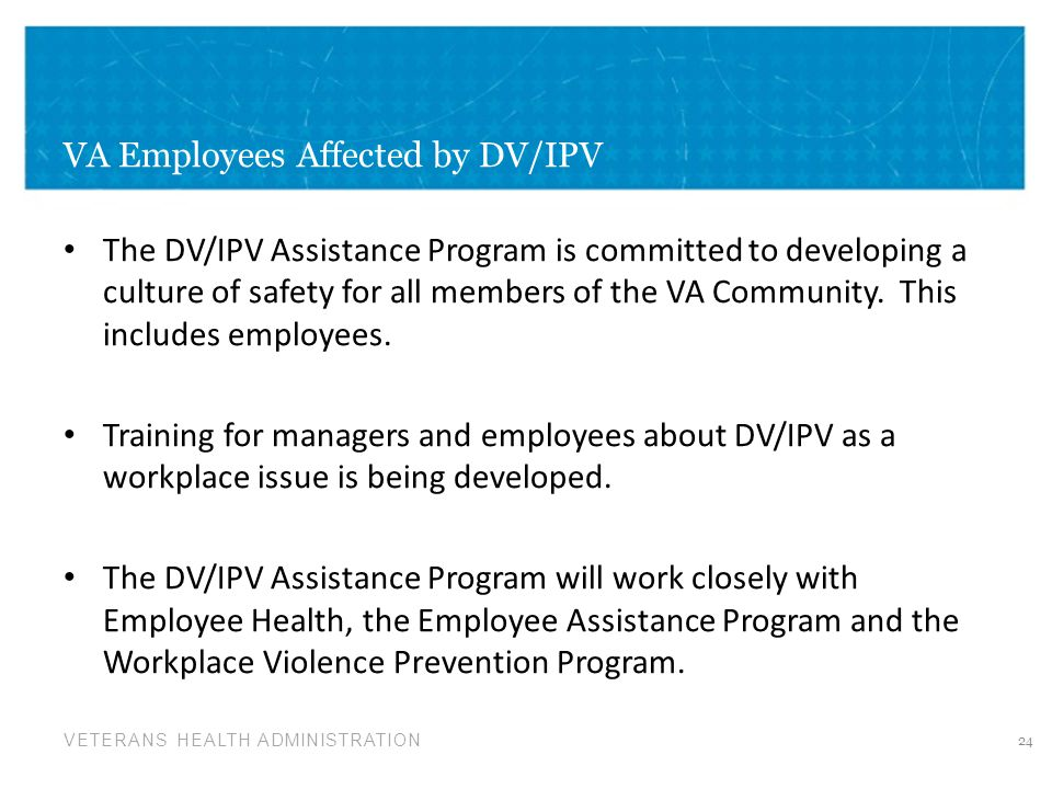 VA Employees Affected by DV/IPV