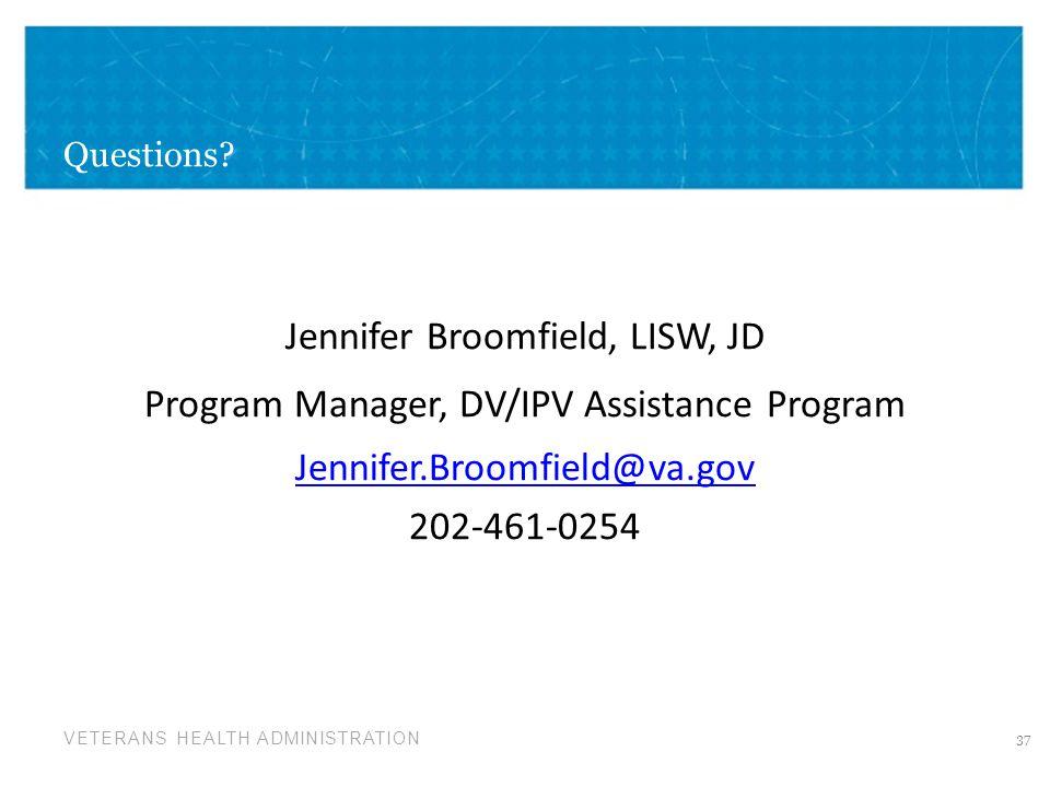 Jennifer Broomfield, LISW, JD
