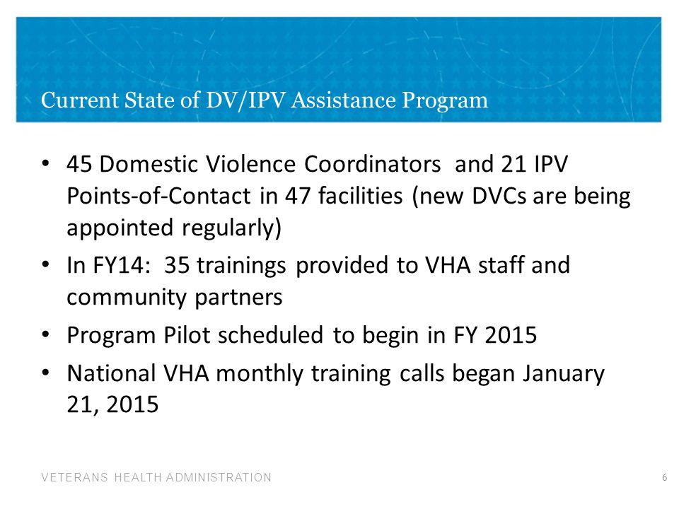 Current State of DV/IPV Assistance Program