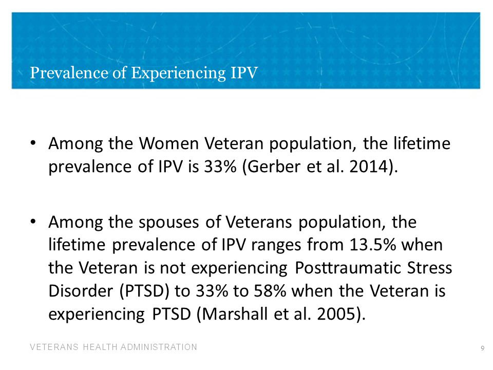 Prevalence of Experiencing IPV