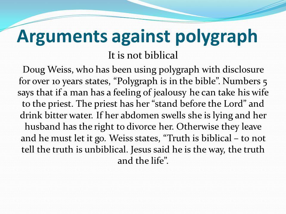 Arguments against polygraph