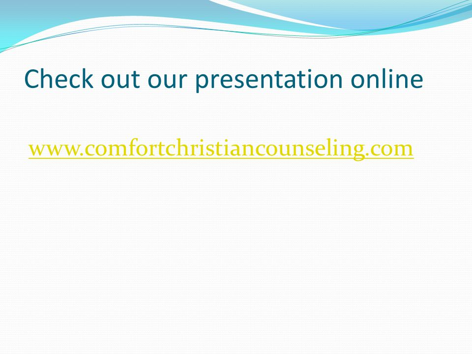 Check out our presentation online