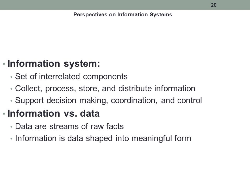 Perspectives on Information Systems