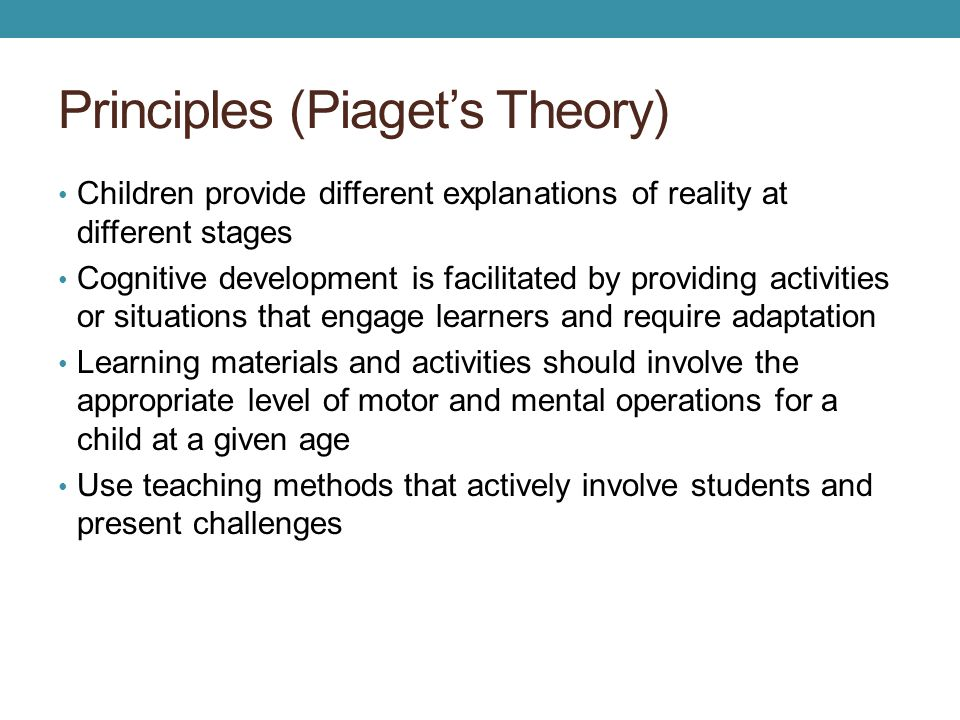 Principles (Piaget's Theory)