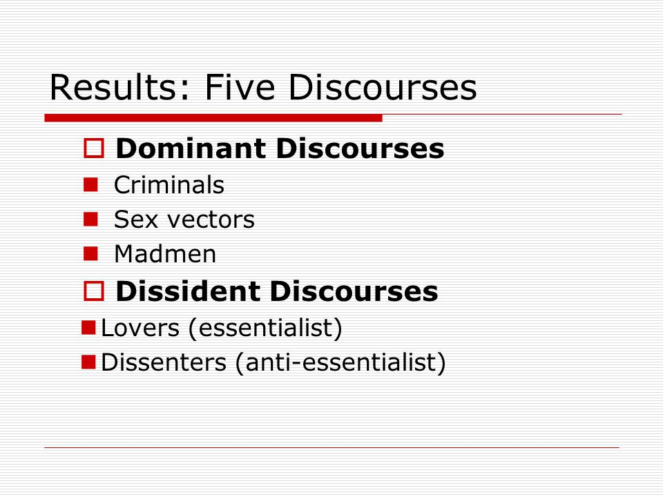 Results: Five Discourses