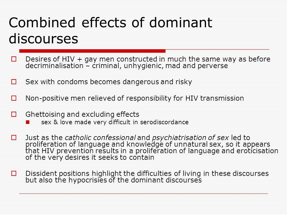 Combined effects of dominant discourses