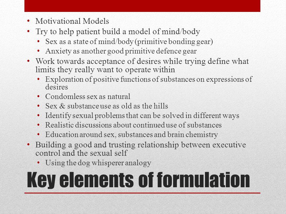 Key elements of formulation
