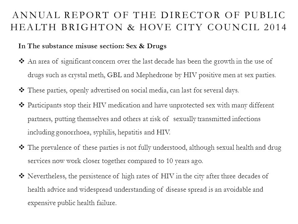 Annual Report Of The director of Public health Brighton & hove city council 2014