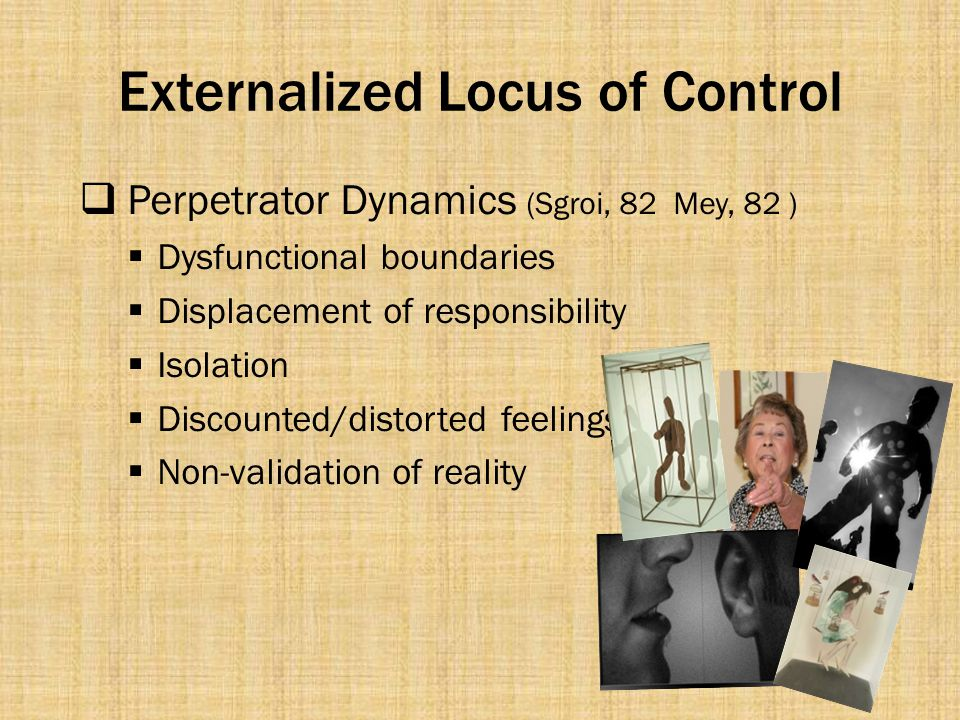 Externalized Locus of Control