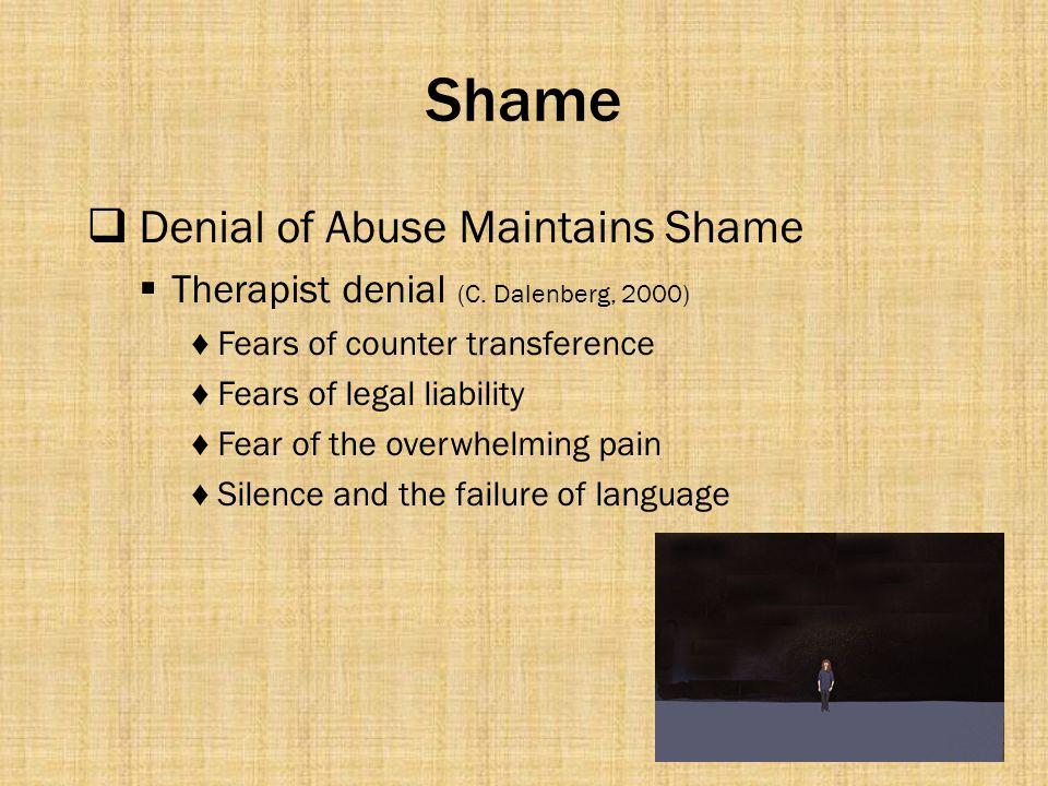 Shame Denial of Abuse Maintains Shame