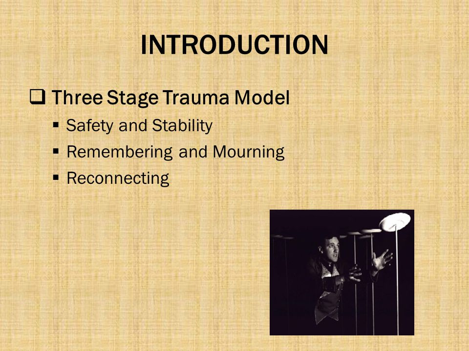 INTRODUCTION Three Stage Trauma Model Safety and Stability